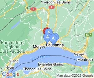 Karte für Novotel Lausanne Bussigny