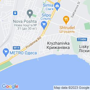 Карта города Крыжановки