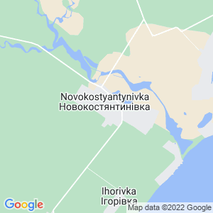 Карта города Новоконстантиновки
