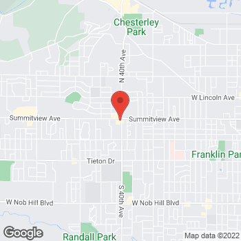 Map of Arby's at 4002 Summitview Avenue, Yakima, WA 98908