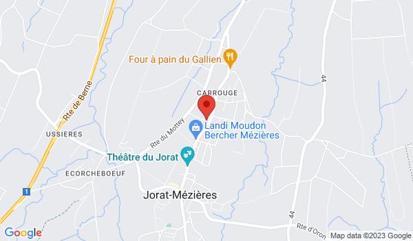 Google map positionnant le bien Villa de deux appartements à 10 min de Lausanne