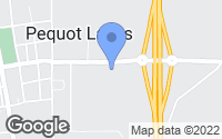 Map of Pequot Lakes, MN
