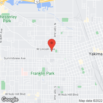 Map of Safeway at 1610 W Lincoln Ave, Yakima, WA 98902