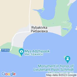 Карта города Рыбаковки