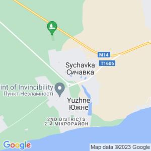 Карта города Сычавки