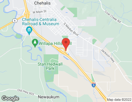 Map of 118 Interstate Ave in Chehalis