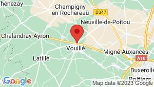 Carte de localisation du centre de contrôle technique VOUILLE