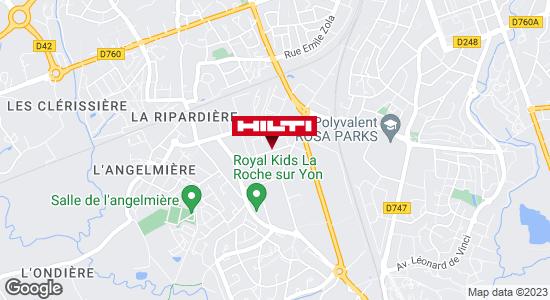 Get directions to Hilti Store - La Roche Sur Yon