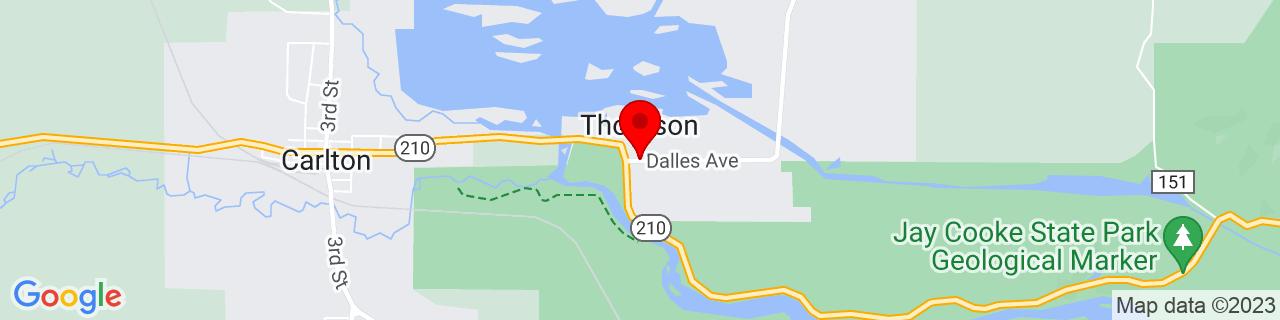 Google Map of 46.6635541, -92.3979693