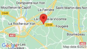 Carte de localisation du centre de contrôle technique LA CHAIZE LE VICOMTE