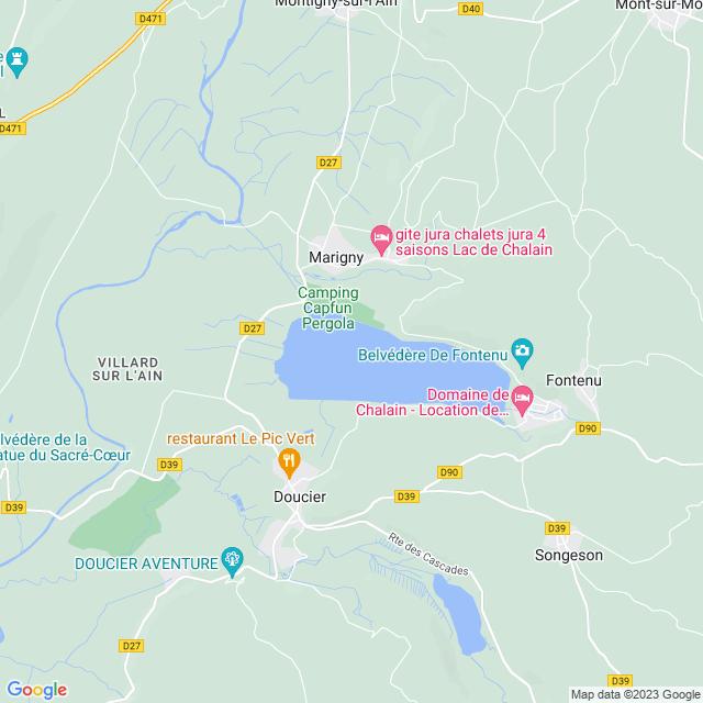 Locatie Lac de Chalain