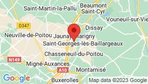Carte de localisation du centre de contrôle technique Jaunay Clan