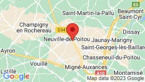 Carte de localisation du centre de contrôle technique NEUVILLE DE POITOU