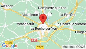 Carte de localisation du centre de contrôle technique La Roche sur Yon