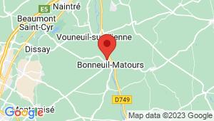 Carte de localisation du centre de contrôle technique BONNEUIL MATOURS