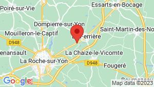 Carte de localisation du centre de contrôle technique LA FERRIERE