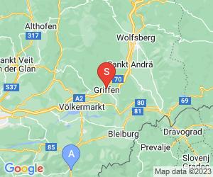 Karte für Griffener Tropfsteinhöhle