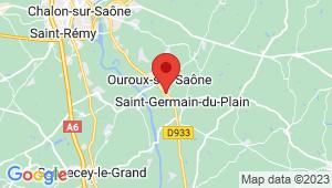 Carte de localisation du centre de contrôle technique OUROUX SUR SAONE