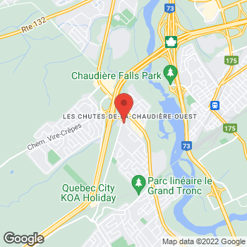 Map of Tim Hortons at 501 Rue De Berniéres, Saint-nicolas, QC G7A 1C9