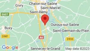 Carte de localisation du centre de contrôle technique VARENNES LE GRAND