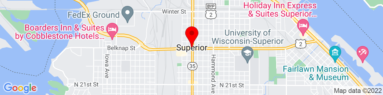 Google Map of 46.72083333333334, -92.10416666666666