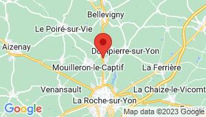 Carte de localisation du centre de contrôle technique Le Poire sur Vie