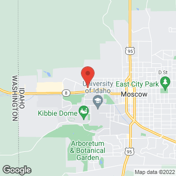 Map of Arby's at 150 Peterson Dr, Moscow, ID 83843-2177