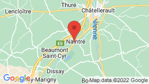 Carte de localisation du centre de contrôle technique NAINTRE