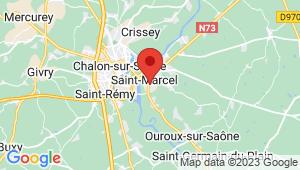Carte de localisation du centre de contrôle technique SAINT MARCEL