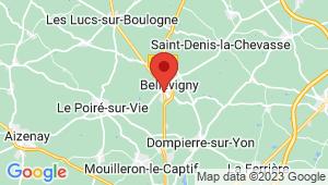 Carte de localisation du centre de contrôle technique BELLEVILLE SUR VIE