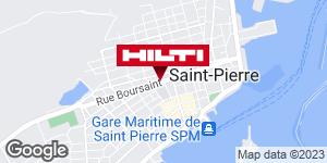 Get directions to Espace Hilti - Dom-Tom DERRIBLE SPM - Saint Pierre et Miquelon