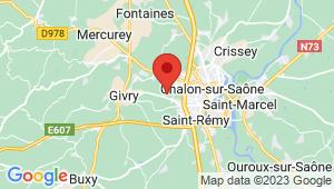 Carte de localisation du centre de contrôle technique CHATENOY LE ROYAL