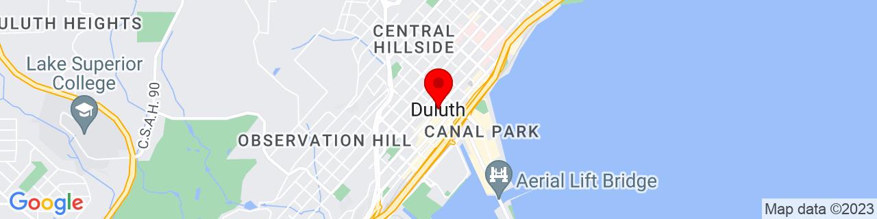 Google Map of 46.78667189999999, -92.1004852