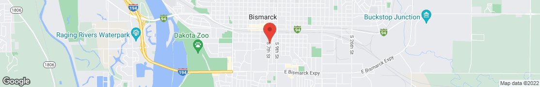 Map of 405 S 7th St in Bismarck