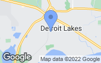 Map of Detroit Lakes, MN