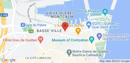 Directions to Chez Rioux & Pettigrew