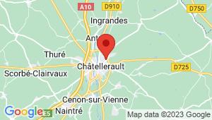 Carte de localisation du centre de contrôle technique CHATELLERAULT