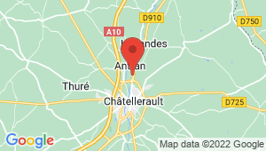Carte de localisation du centre de contrôle technique Châtellerault nord