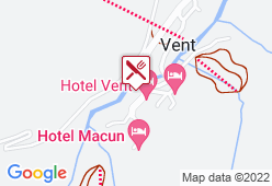 Hotel Alt Vent Tyrol - Karte