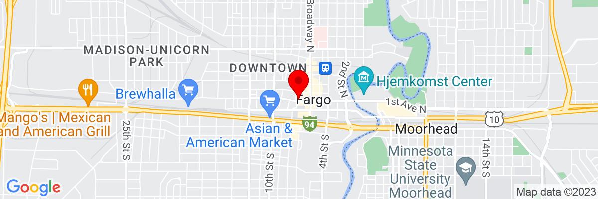 Google Map of 46.877186388889,-96.789803333333