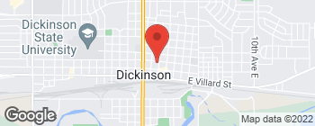 Map of 111 2nd St W in Dickinson