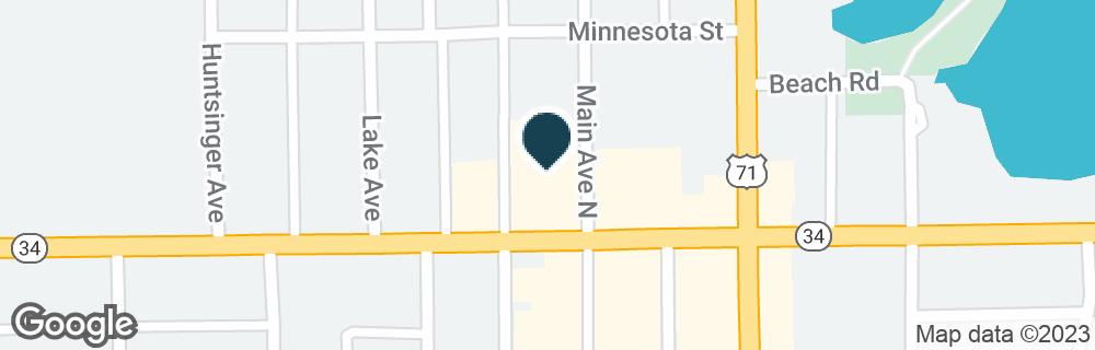Google Map of101 MAIN AVE N