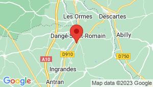 Carte de localisation du centre de contrôle technique DANGE SAINT ROMAIN