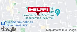 Get directions to Региональный представитель Hilti в г. Южно-Сахалинск