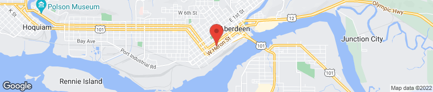 Map of 418 W. Heron St in Aberdeen
