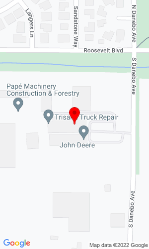 Google Map of Pape Machinery 460 North Danebo Avenue, Eugene, OR, 97402