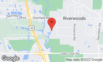 Map of 460 Thornmeadow Road RIVERWOODS, IL 60015