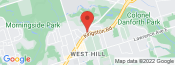Google Map of 4600+Kingston+Road%2CScarborough%2COntario+M1E+2P4