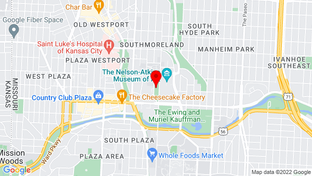 Google Map of 4600 Oak St, Kansas City, MO 64111, Kansas City, MO 64111