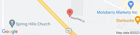 Google Map of 4601 Lavell Rd, Santa Rosa (Larkfield-Wikiup), CA 95403